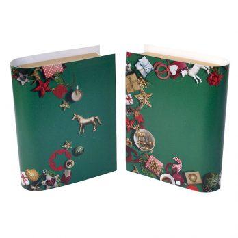 Geldgeschenk Buch Weihnachten grün