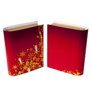 Geldgeschenk Buch Weihnachten rot