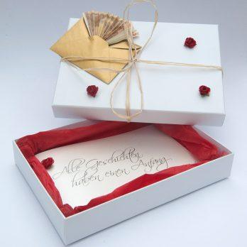 Zur Hochzeit Geschichtenbuch groß mit Box